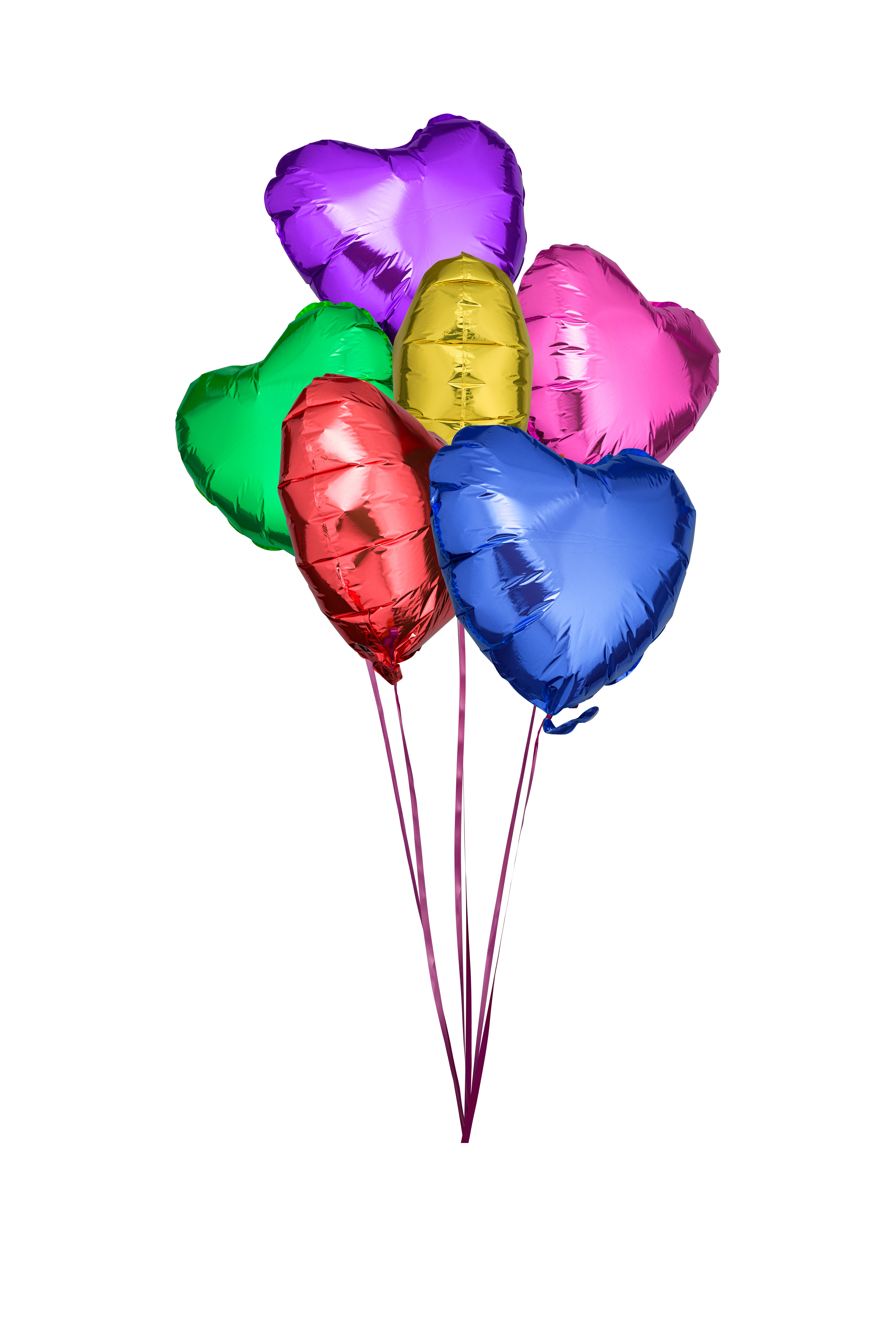 some colorful balloons